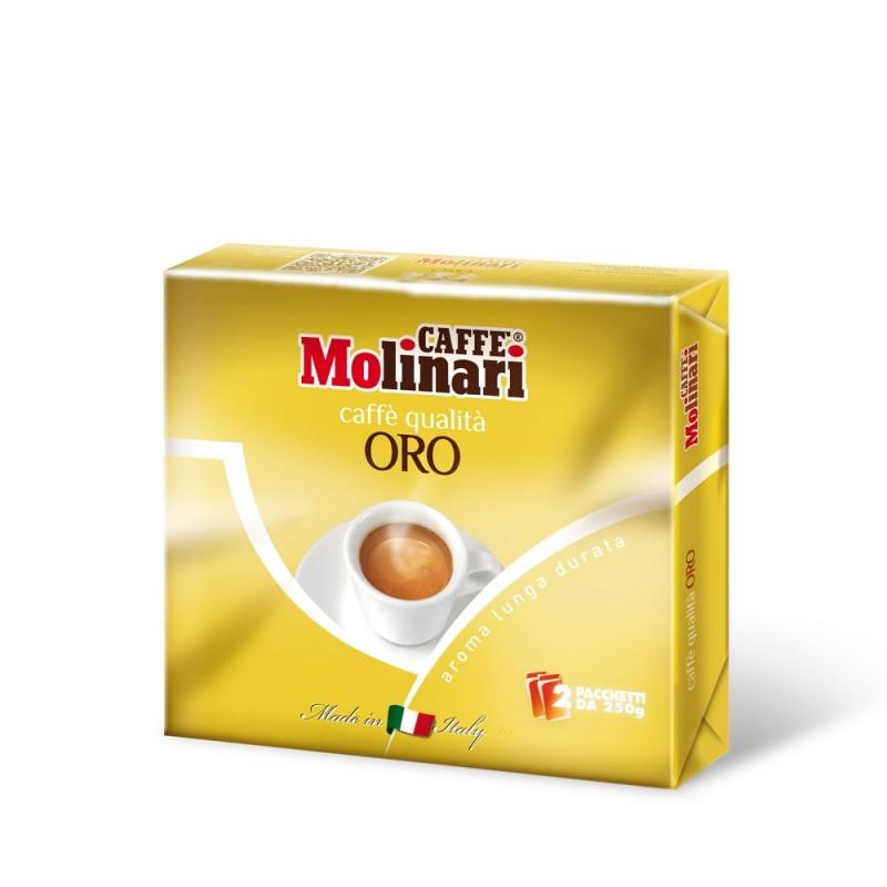 Miscela di Caffè Tostato Macinato Qualità Oro - 2 x 250 g