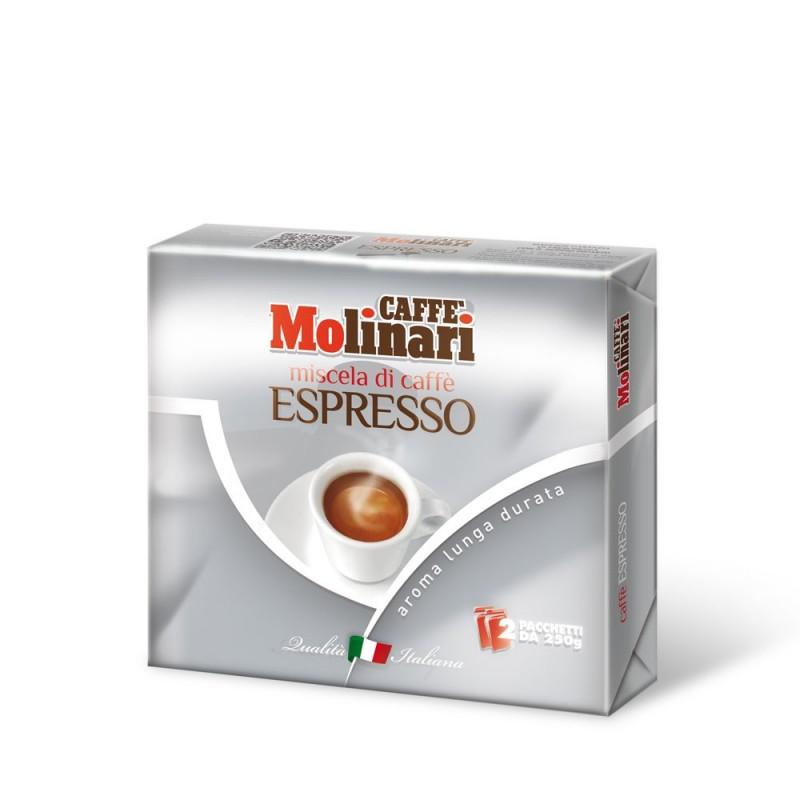 Miscela di Caffè Tostato Macinato Qualità Espresso - 2 x 250 g