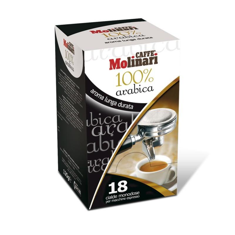 Caffè Espresso Arabica 100% Cialde in Carta 44 mm Monodose - pz. 18