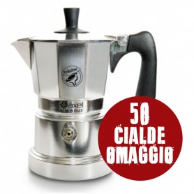 Moka 3 tazze con adattatore per caffè a cialde mokadose + 50 cialde OMAGGIO