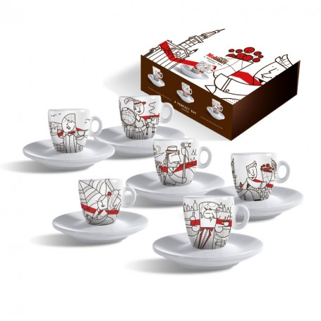 Set 6 Tazzine Caffè Collezzione Perfect Day - Caffè Molinari