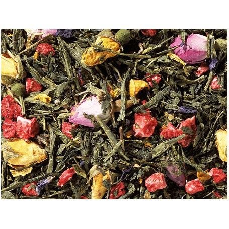 Miscela di Tè verde Sencha Té di Primavera - Lampone