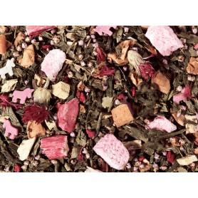 Miscela di Tè verde Zucchero Filato - Lampone e Rabarbaro