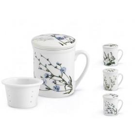 Tazza da Tè con Tappo - Flowers