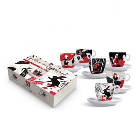 Set 6 tazze cappuccino Alice Molinari