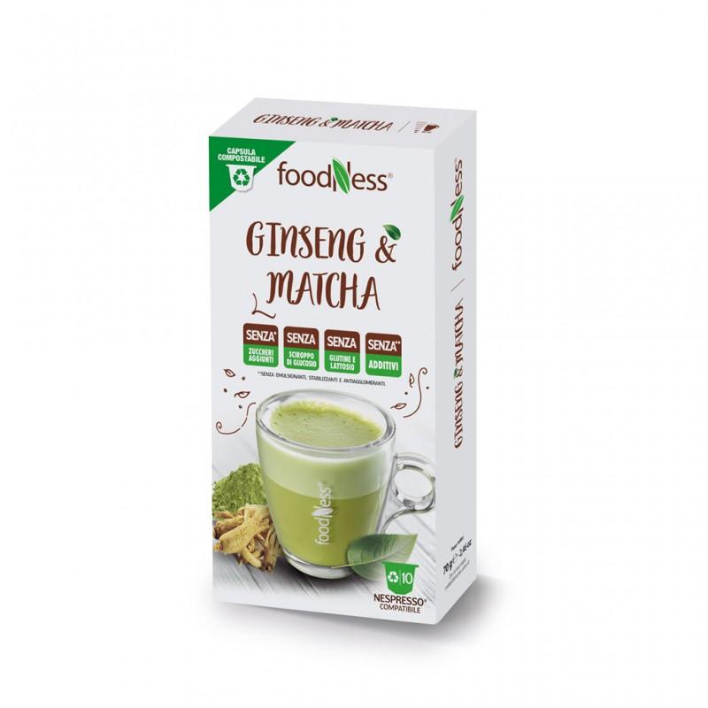 Compatibili Nespresso Foodness Ginseng E Matcha 10pz