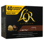 Capsule Compatibili Nespresso* l'Or - FORZA - 40pz