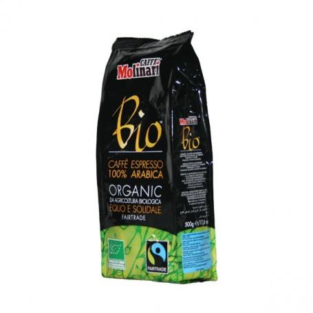 Caffè  Bio 100% arabica Equo-Solidale Grani 500g