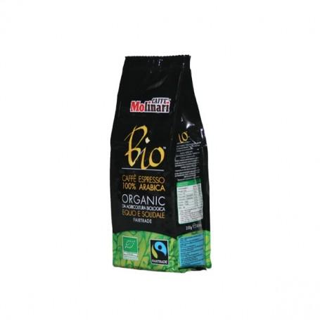 Caffè Macinato Bio Organic da Agricoltura Biologica Equo e Solidale Fairtrade Qualità 100% Arabica Caffè Molinari - 250 g