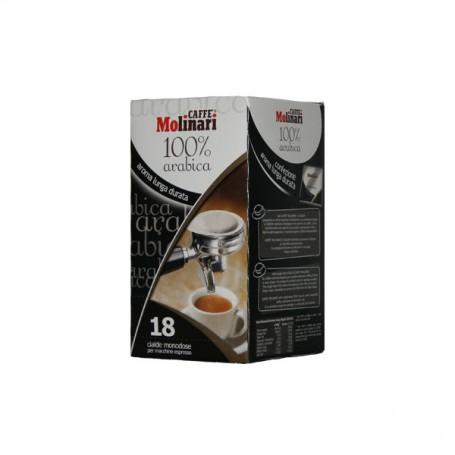Caffè 100% Arabica Espresso Cialde in Carta Ese 44 mm Caffè Molinari - 18 Cialde Monodose
