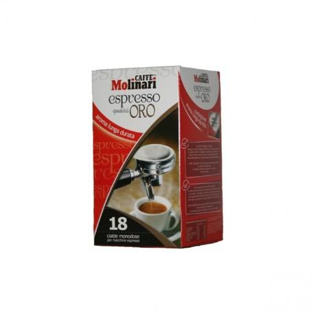 Caffè Espresso Cialde in Carta Ese 44 mm Qualità Oro Caffè Molinari - 18 Cialde Monodose