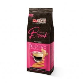 Caffè Macinato Spicy Break Caffè Molinari Aromatizzato con Estratto Naturale Zenzero Cannella - 250 g