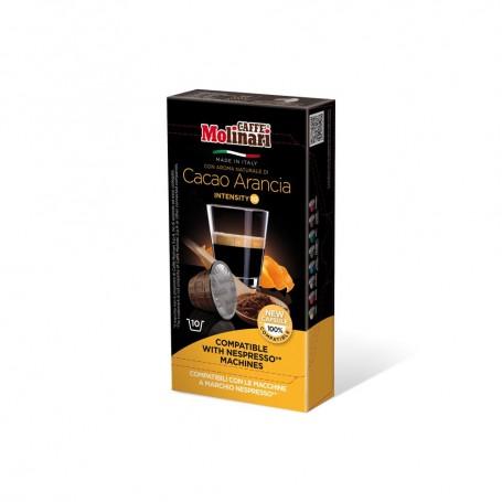 Capsule Caffè Molinari ITEspresso Compatibili Nespresso Cacao Arancia - 10 Capsule Monodose