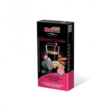 Capsule Caffè Molinari ITEspresso Compatibili Nespresso Zenzero Cannella - 10 Capsule Monodose